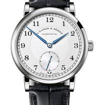 A. Lange & Söhne White gold Manual winding Silver Arabic numerals 38.5mm new 1815