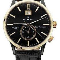 Edox Les Vauberts Steel 40mm Black