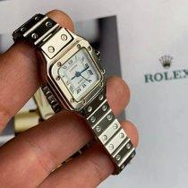 Cartier Santos Galbée Acciaio 24mm Argento Romano Italia, Giulgiano in Campania