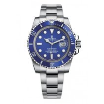 Rolex Or blanc Remontage automatique Bleu 40mm occasion Submariner Date