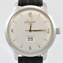 Glashütte Original Sixties Panorama Date pre-owned 42mm Panorama date Date Crocodile skin