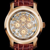 Cuervo y Sobrinos Rose gold Automatic Champagne Arabic numerals 43mm new Robusto