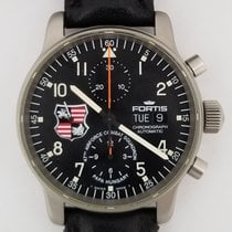 Fortis Chronograph 40mm Automatic pre-owned Flieger Black