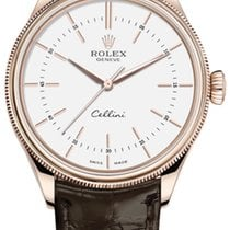Rolex Cellini Time Rose gold 39mm White