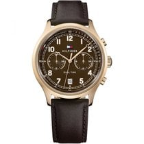 Tommy Hilfiger Steel Quartz Brown 44mm new