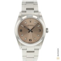 Rolex Oyster Perpetual 31 Steel 31mm Pink Arabic numerals