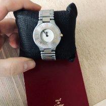Cartier 21 Must de Cartier Stahl 31mm Silber Römisch