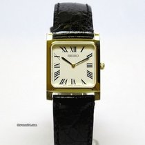 Seiko Yellow gold Quartz Gold Roman numerals 22mm new