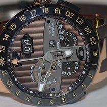 Ulysse Nardin El Toro / Black Toro pre-owned 43mm Brown Date Weekday Month Perpetual calendar GMT Rubber