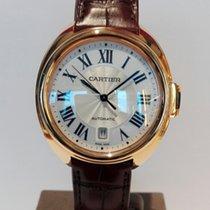 Cartier Pозовое золото Автоподзавод Белый Римские 40mm новые Clé de Cartier
