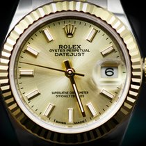 Rolex Datejust Lady 28 Steel and Yellow Gold  Fluted Bezel ...