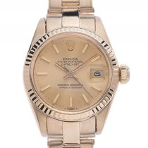 Rolex Datejust Lady 18kt Gelbgold Automatik Armband Oyster...