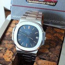 Patek Philippe 3700/11A Jumbo Nautilus Blue m.Korkbox  1982