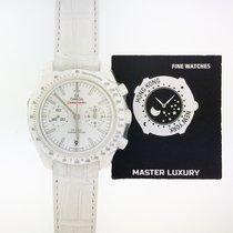歐米茄 Speedmaster Professional Moonwatch 陶瓷 44.25mm 白色 無數字