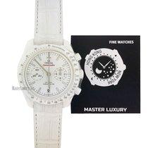 Omega Speedmaster Professional Moonwatch Céramique 44.25mm Blanc Sans chiffres