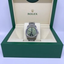 Rolex Oyster Perpetual 34mm, 114200 ZB olive green, full set