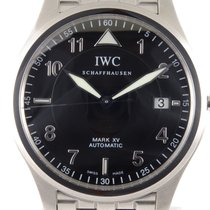 IWC Pilot Mark Stal 38mm Czarny Arabskie