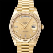 Rolex Day-Date 40 Yellow gold 40mm Champagne United States of America, California, San Mateo
