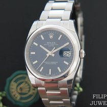 Rolex Oyster Perpetual Date Staal 34mm Blauw Nederland, Maastricht
