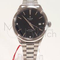 Tudor Style Steel 38mm Black No numerals