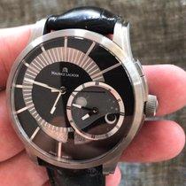 Maurice Lacroix Pontos Décentrique GMT usados 45mm Negro Fecha GMT Piel de aligátor