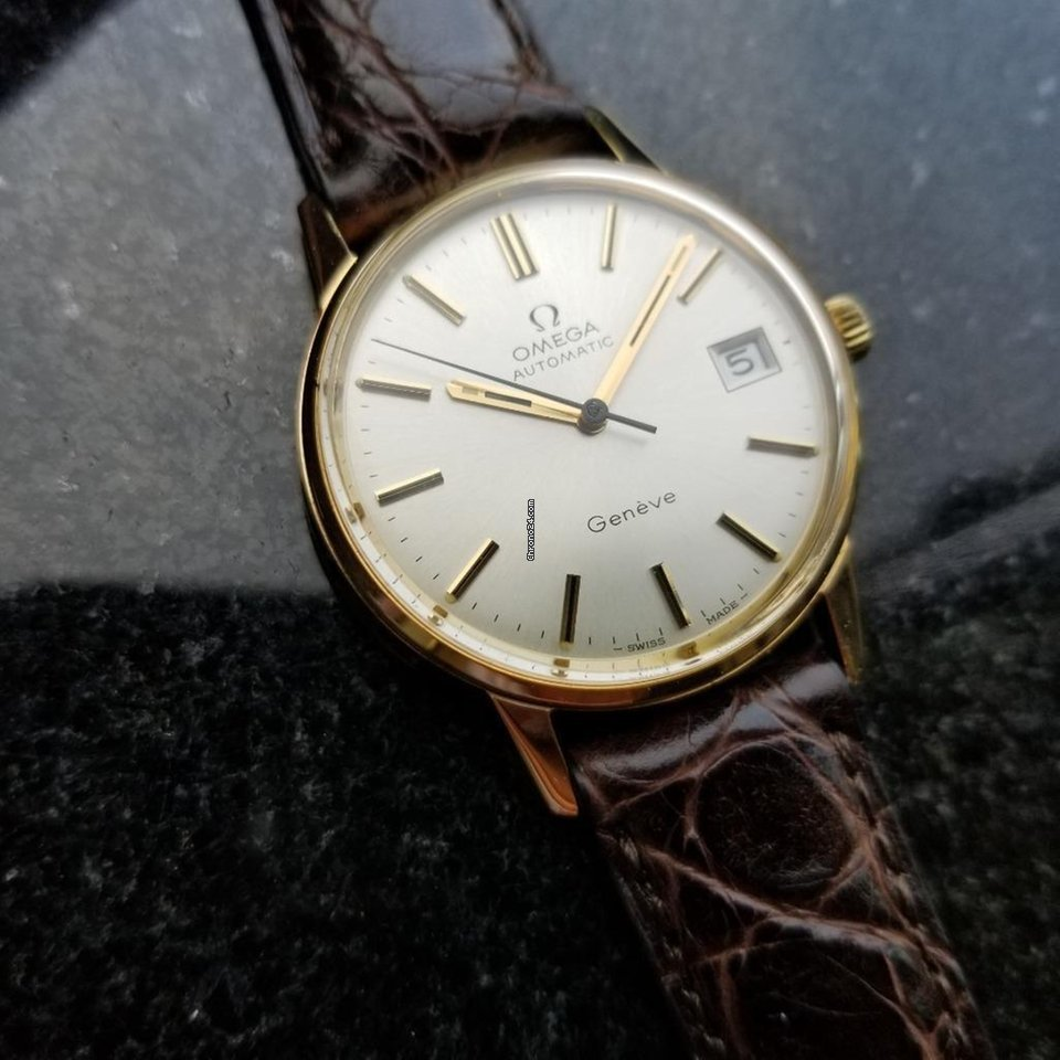Omega Vintage Geneve Automatic 1960s 9k Solid Gold Mens Watch... eladó 1  079 775 Ft Trusted Seller státuszú eladótól a Chrono24-en 2ec899b190