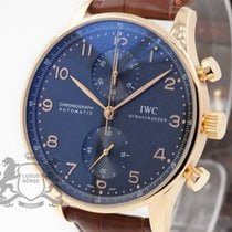 IWC Portuguese Chronograph 18K Rose Gold 371415 SERVICED by IWC