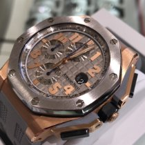 Audemars Piguet Rose gold Automatic Grey Arabic numerals 44mm pre-owned Royal Oak Offshore Chronograph