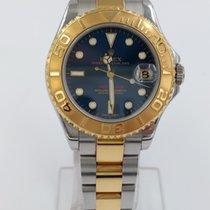 Rolex Yacht-Master occasion 35mm Bleu Date Or/Acier