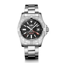 Breitling Avenger II GMT Steel 43mm Black No numerals United States of America, New York, New York