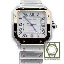 Cartier new Automatic Center Seconds Blue Steel Hands 39.8mm Gold/Steel Sapphire Glass