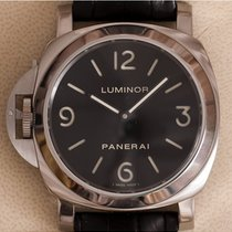 Panerai Luminor Base tweedehands 44mm Zwart Leer