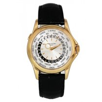 Patek Philippe Rose gold Automatic Silver 37mm pre-owned World Time
