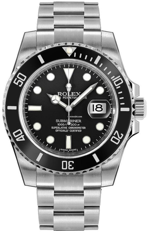 Rolex Submariner Date Black Dial Men\u0027s Watch 116610LN