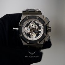 Audemars Piguet Royal Oak Offshore Chronograph Titanium 44mm Zwart Geen cijfers