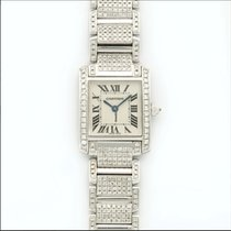 Cartier Tank Française White gold 20mm Silver Roman numerals United States of America, New York, NEW YORK CITY