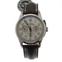 Breitling Transocean Chronograph 1915 Steel 43mm Silver No numerals