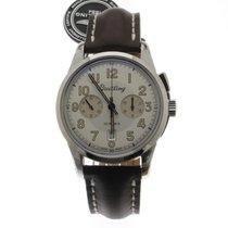 Breitling Transocean Chronograph 1915 Acero 43mm Plata Sin cifras