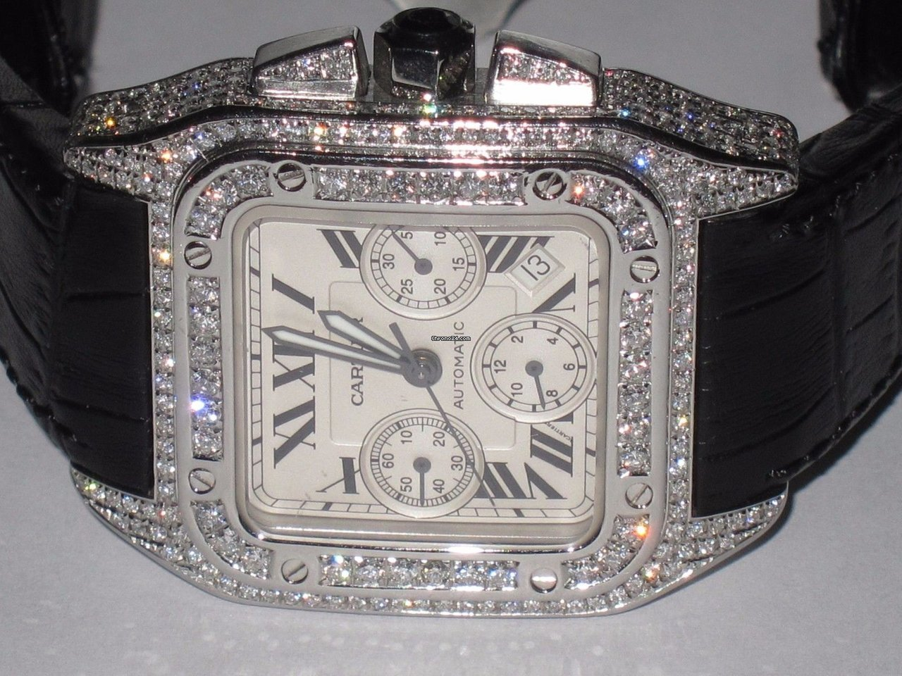 white cartier gold product bezel ladies diamond watch boca panthere raton