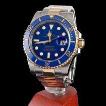 Rolex submariner date steel and gold blue ceramic