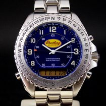 Breitling Pluton Steel 42mm Blue Arabic numerals