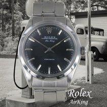 Rolex Air King Precision Acero 35mm Negro Sin cifras