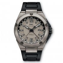 IWC IW326403 Ingenieur Dual Time Automatic Titanium Men's Watch
