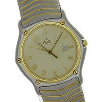 Ebel Stainless Steel Gold Wave Quartz 183903 Classic Dress Watch