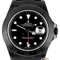 Rolex 2010 ENGRAVED Rolex Explorer II Black PVD Stainless...
