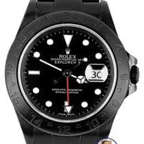 롤렉스 2010 ENGRAVED Rolex Explorer II Black PVD Stainless Steel...