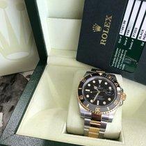 Rolex 116613 Black Ceramic Submariner 18K Yellow Gold Stainles...