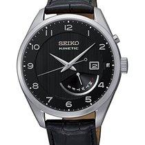 Seiko Kinetic Steel 42mm Black Arabic numerals