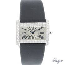 Cartier Tank Divan PM White Gold Diamonds