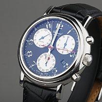 Chopard Mille Miglia gebraucht 39mm Schwarz Chronograph Datum Leder